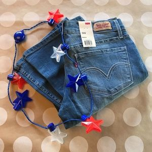 Levi's blue jeans 524 bootcut low rise nwt 7 9
